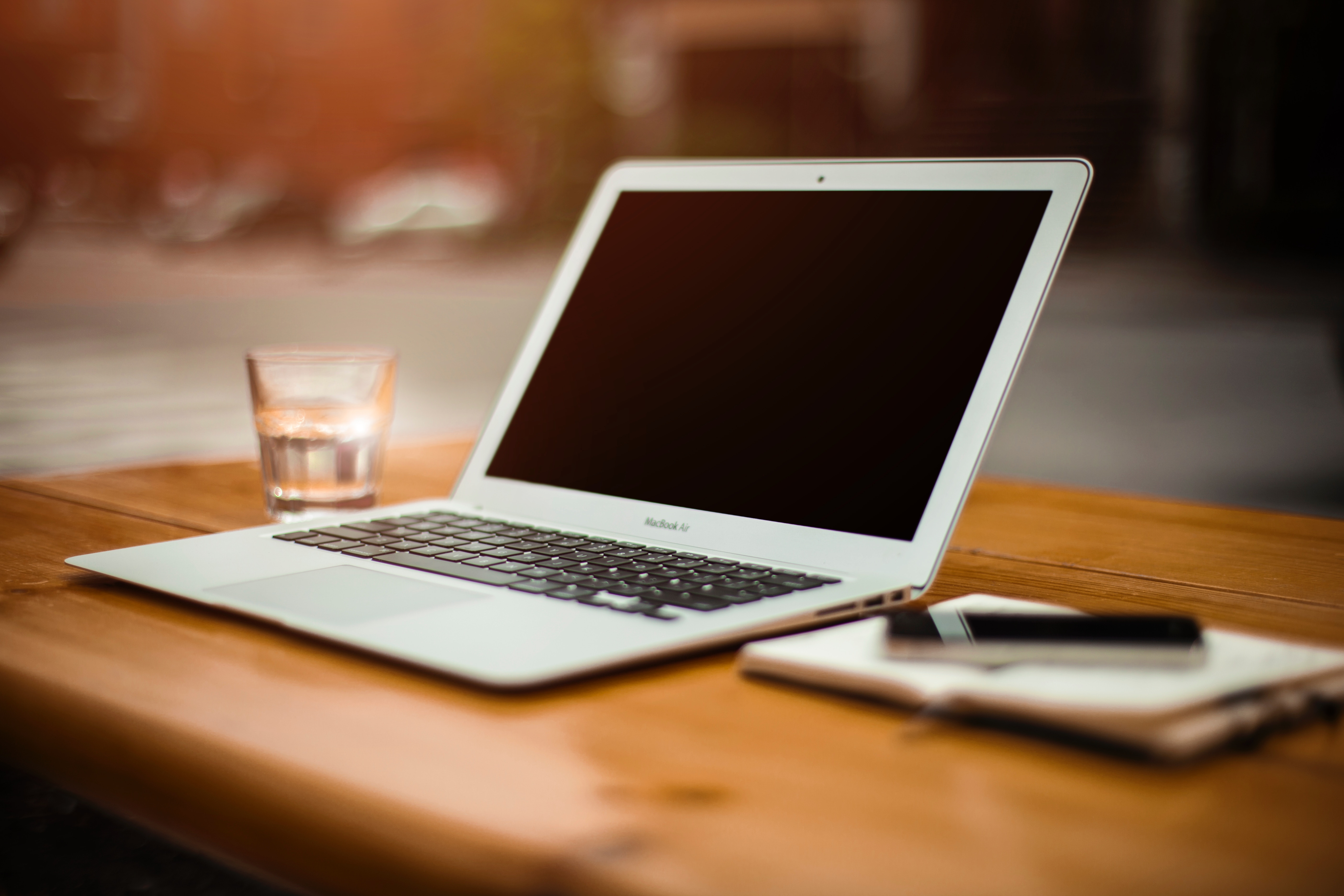 Online ESL Teaching - Laptop and Notes