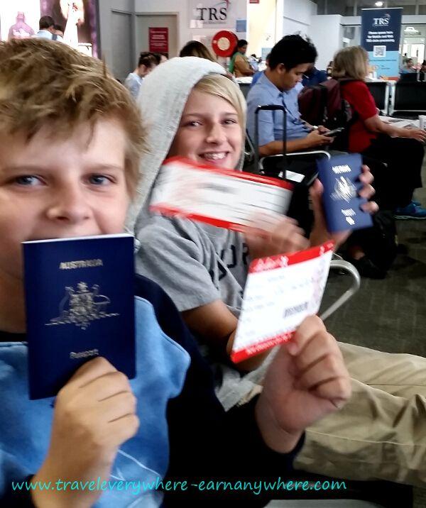 Travel documents ready!