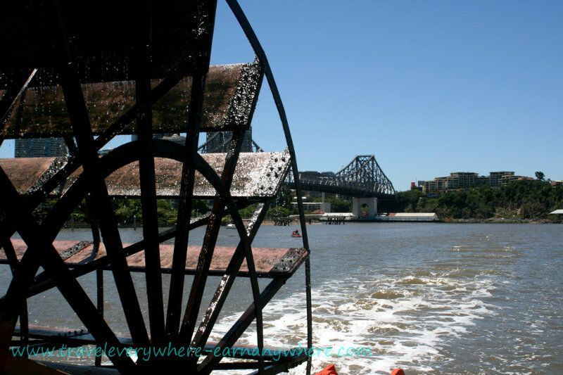 Paddle Steamer - a less energetic, yet peaceful way to cruise the Brisbane River