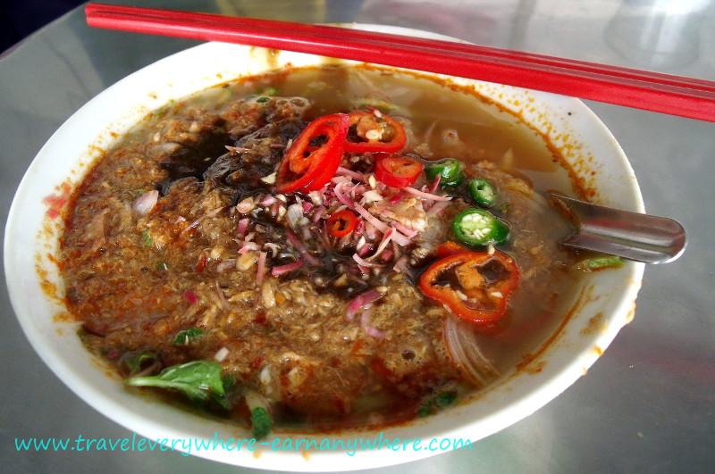 Asam Laksa - a sour fish-based soup