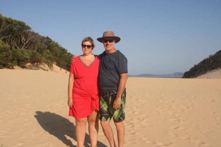 Top of the sand blow – Rainbow Beach, Australia