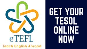 Get TESOL Certified with eTEFL Online