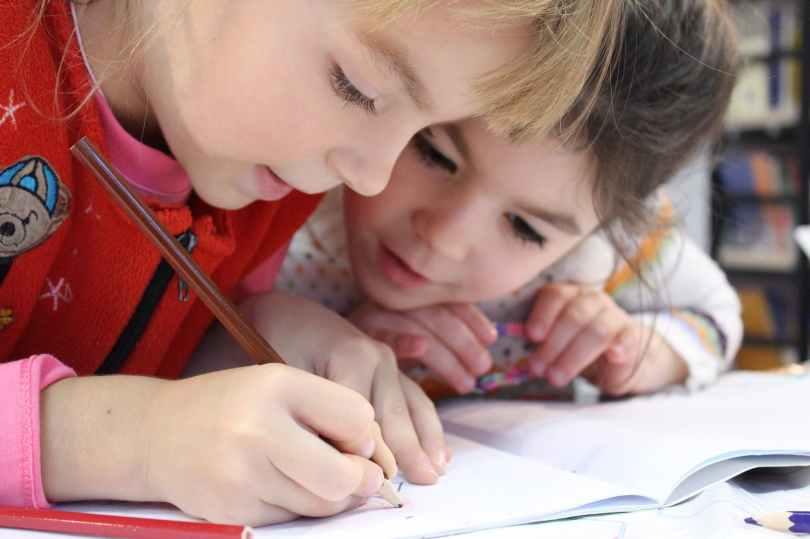 Kids in ESL Classroom