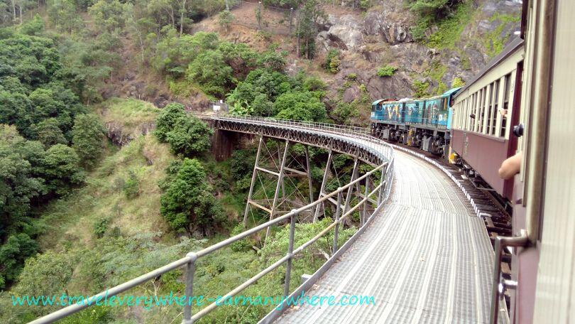 Bridge on Kuranda Scenic Railway in Cairns, Australia