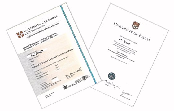 TESOL Diploma and Degree