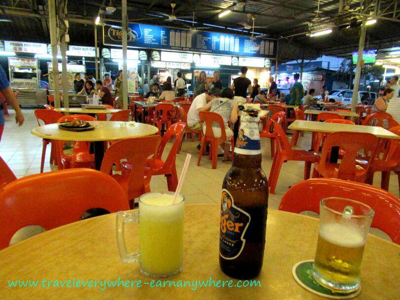 Long Beach Cafe Hawker Centre in Batu Ferringhi, Penang