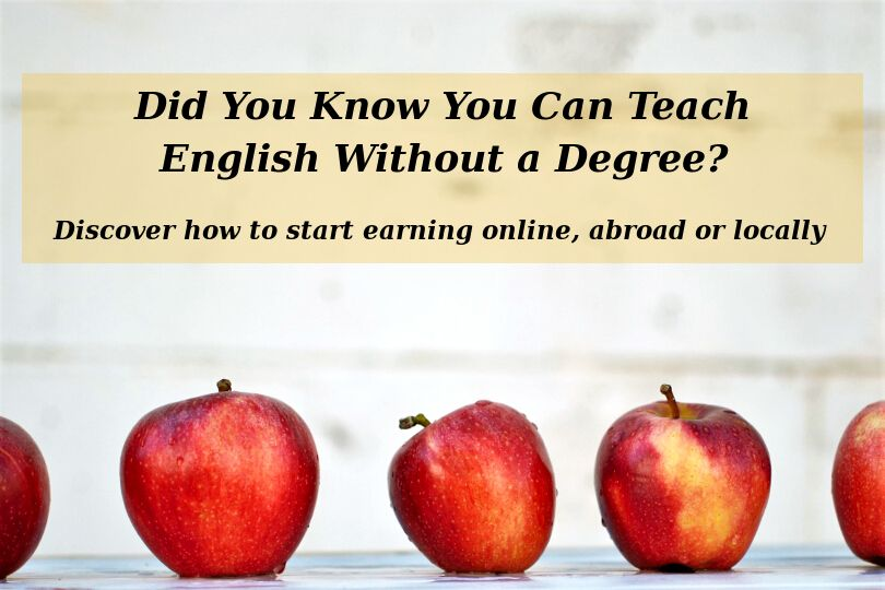 Teach English Without a Degree - Featured Image