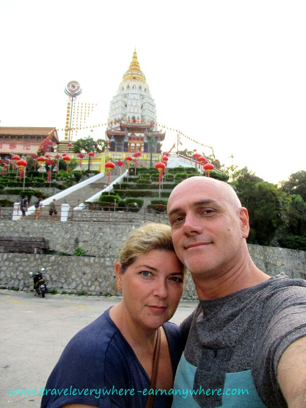 Rachael-and-Chris-outside-Kek-Lok-Si-Buddhist-Temple